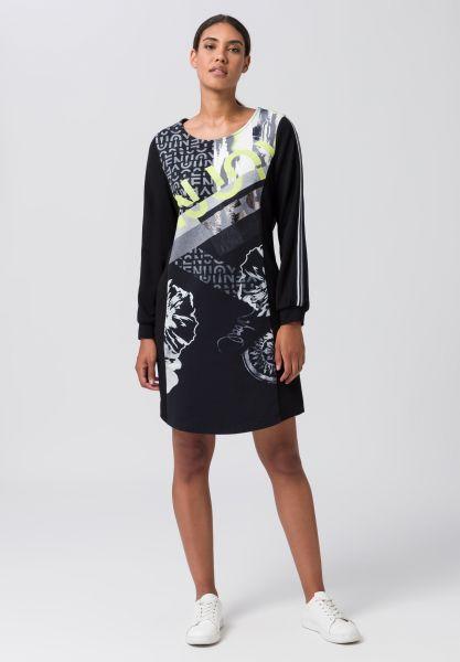 Kleid SPICY LIME mit grafischem Print