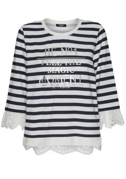 Shirt Re-fresh Blue mit platziertem Buchstabenprint