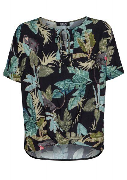 Bluse Summer Darks im farbenfrohen Dschungelprint