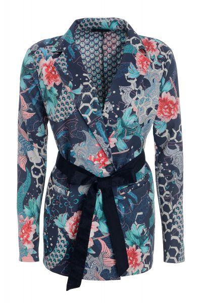 Jackenblazer Jewel Garden mit eleganten Taillengürtel