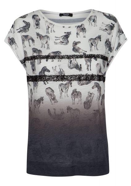 Shirt Marokko Chic mit zwei breiten Paillettenstreifen
