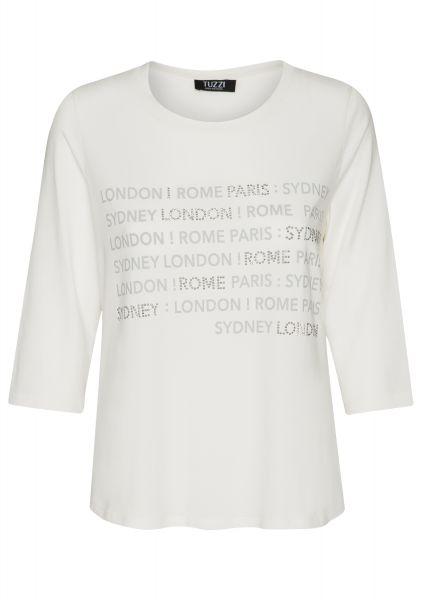 Shirt SPICY LIME mit Buchstabenprint in Silberoptik