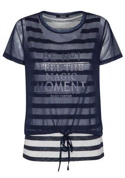 Shirt Re-fresh Blue mit Buchstaben Print
