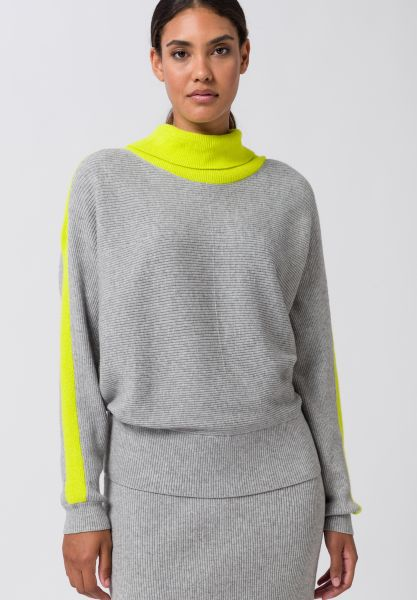 Strickpullover SPICY LIME in coolem Colorblock