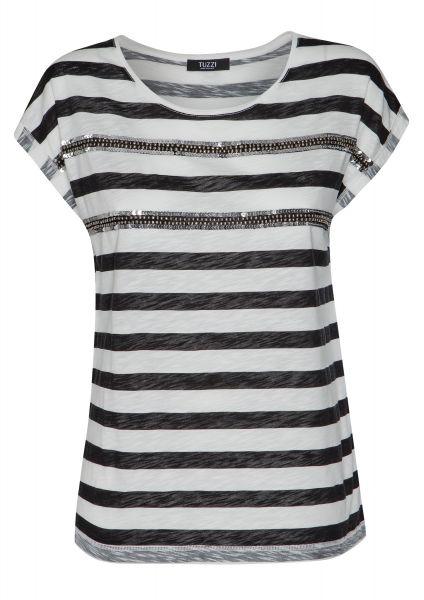 Shirt Essentials mit silbernen Pailettenstreifen