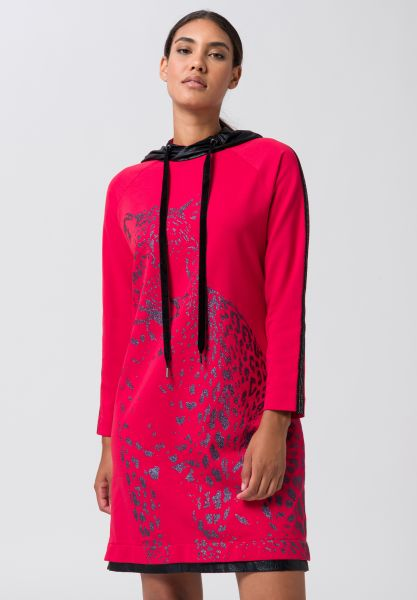 Kleid ESSENTIALS mit Metallic Kapuze